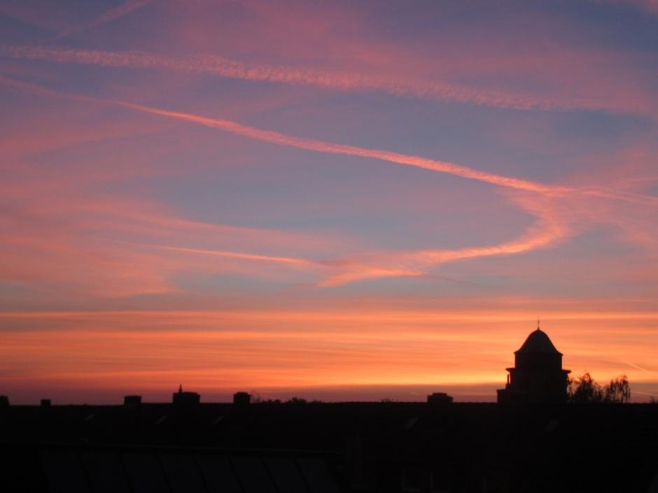 Sonnenaufgang, sunset mit pinkem Himmel