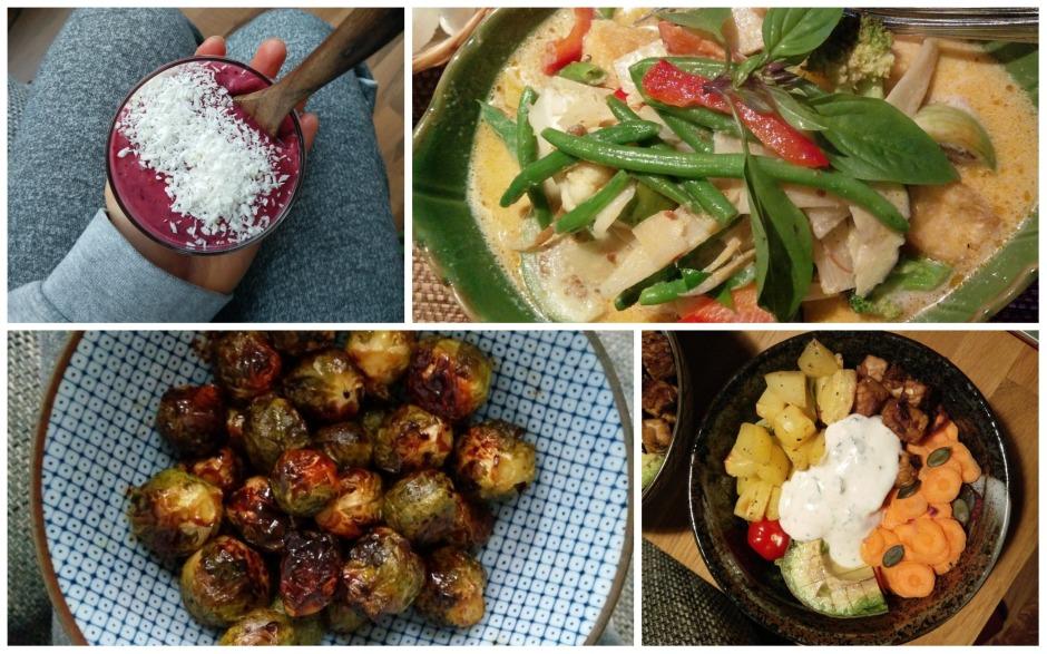 vegan food smoothie buddha bowl thai curry